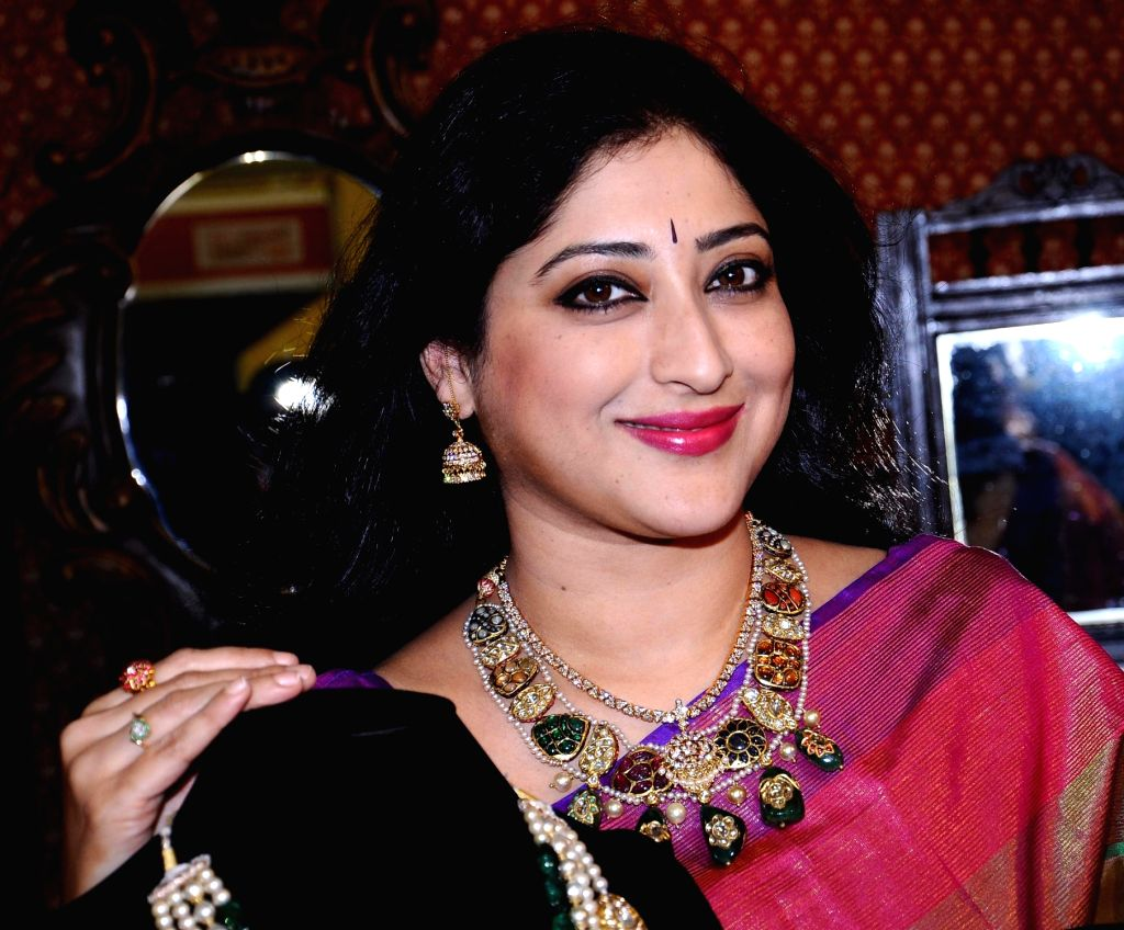 Actress Lakshmi Gopalaswamy at the inauguration of 18th edition of Jewels of India Expo in Bengaluru on Oct 21, 2016. - Lakshmi Gopalaswamy