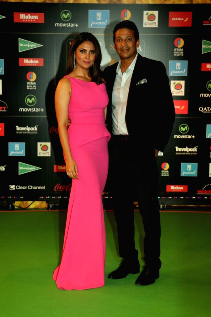 Actress Lara Dutta and Mahesh Bhupathi  during IIFA Awards in Madrid on June 26, 2016. - Lara Dutta and Mahesh Bhupathi