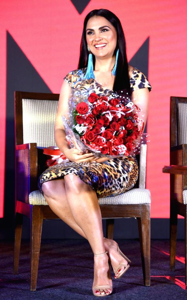 Actress Lara Dutta at a press conference in Bengaluru, on Dec 5, 2018. - Lara Dutta