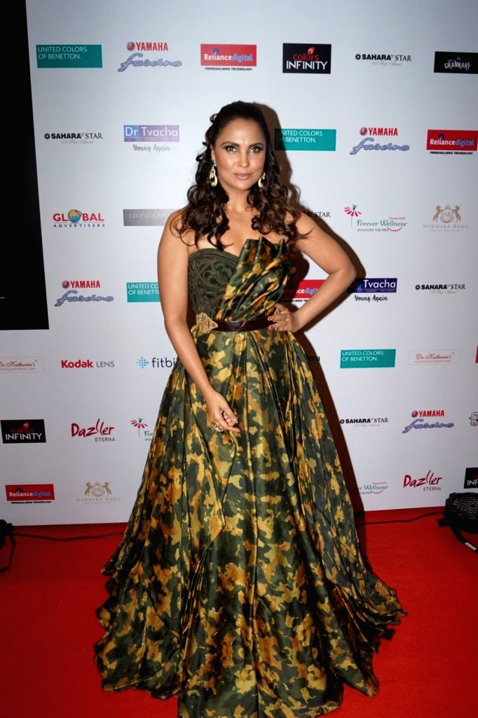 "Actress Lara Dutta at star studded red carpet of ""Miss Diva Grand Finale"" in Mumbai on Oct 11, 2017. - Lara Dutta"