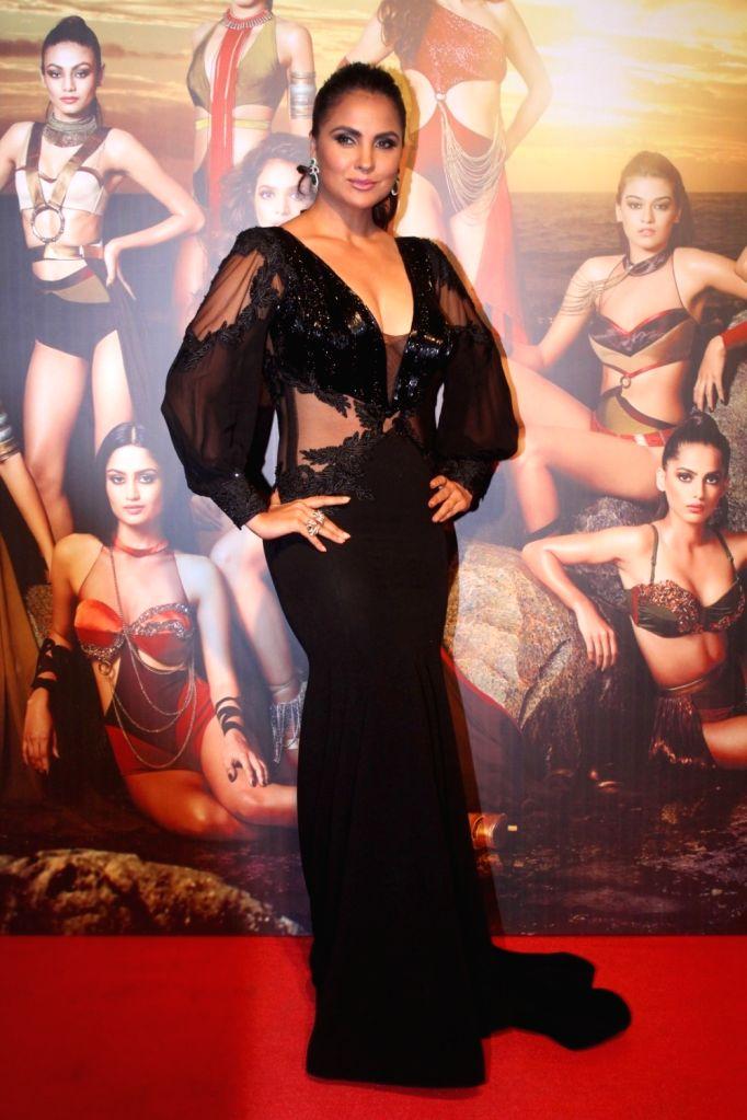 "Actress Lara Dutta at the star studded red carpet of ""Miss Diva 2017"" in Mumbai on Sept 18, 2017. - Lara Dutta"