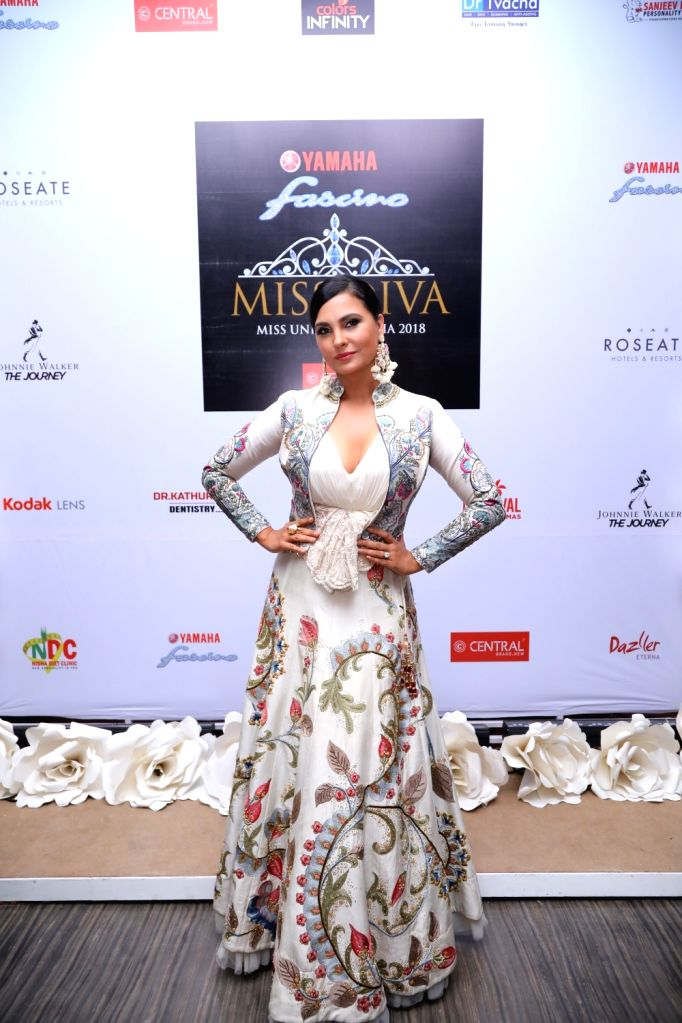 Actress Lara Dutta Bhupathi at the Miss Diva sub contest in New Delhi on Aug 9, 2018. - Lara Dutta Bhupathi