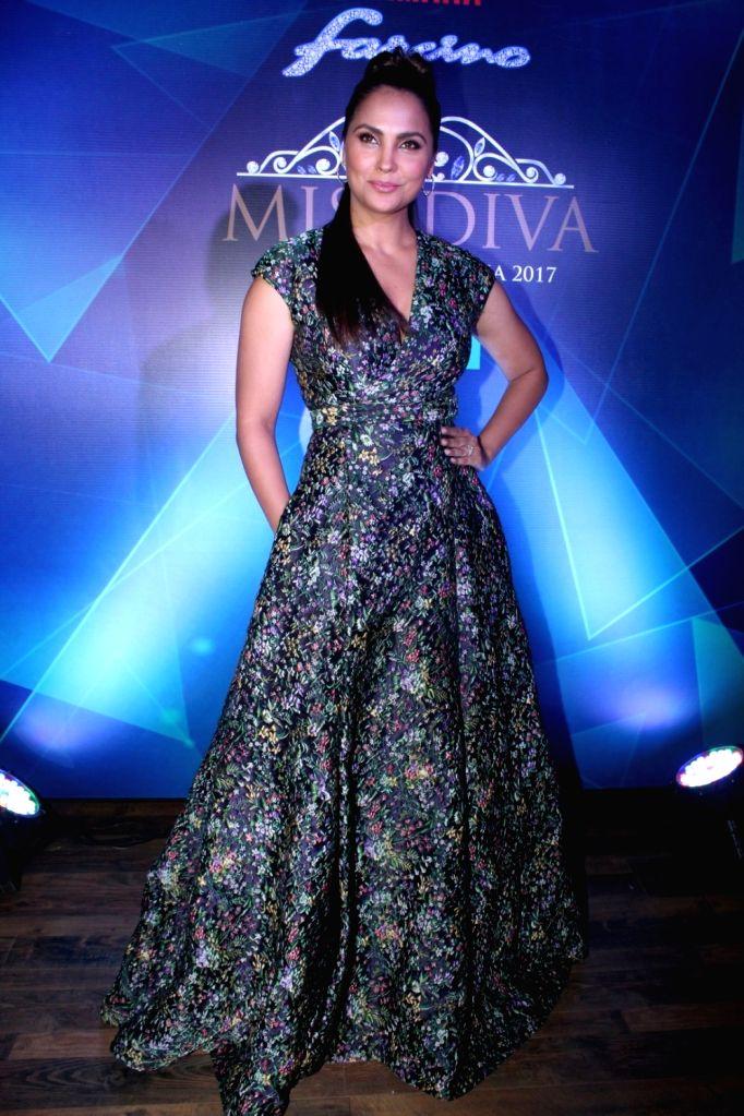 Actress Lara Dutta during the 1st Ever Bloggers Meet Of Yamaha Fascino Miss Diva Miss Universe India 2017 in Mumbai on Sept 8, 2017. - Lara Dutta