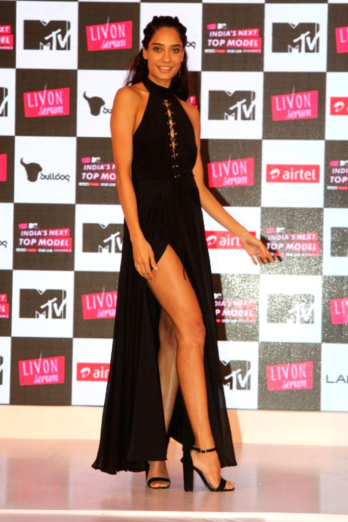 Actress Lisa Haydon during the launch of MTVs show Next Top Model Season 2 in Mumbai, on June 30, 2016. - Lisa Haydon