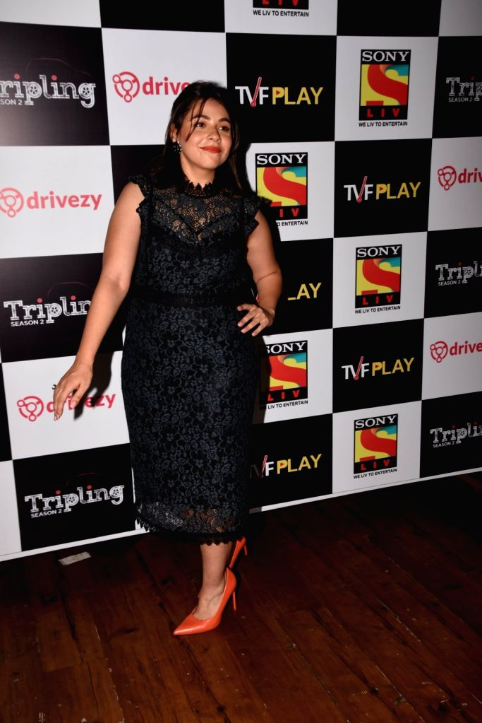 Actress Maanvi Gagroo at the launch of the second season of her upcoming web series 'Tripling' in Mumbai, on March 14 2019. - Maanvi Gagroo