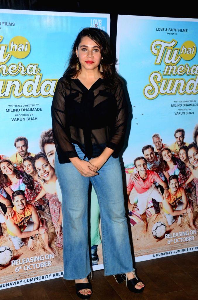 "Actress Maanvi Gagroo during the promotions of her upcoming film ""Tu Hai Mera Sunday"" in Mumbai on Sept 17, 2017. - Maanvi Gagroo"