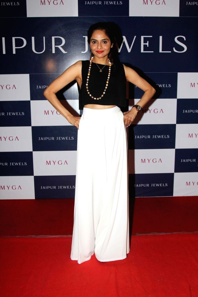 Actress Madhoo Shah during the unveiling of Jaipur Jewels mega campaign co host by Ira Dubey, in Mumbai on Aug 3, 2016. - Madhoo Shah