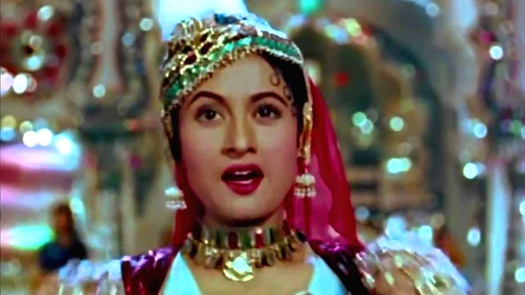 "Actress Madhubala performs to ""Pyar Kiya to Darna kya\"", one of the uncompromising and boldest love songs in Hindi films, penned by Shakeel - Madhubala"