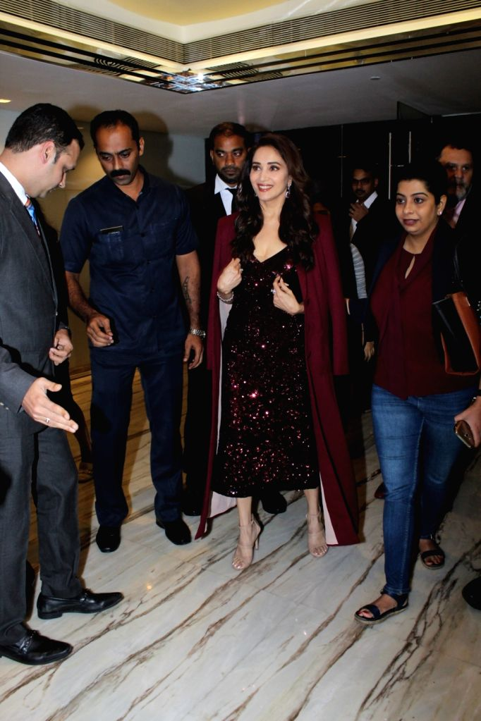 Actress Madhuri Dixit at the Indian International Film Awards (IIFA) 2019 press conference in Mumbai, on Sep 5, 2019. - Madhuri Dixit