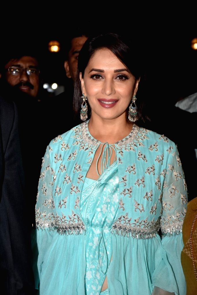 Actress Madhuri Dixit Nene at a book launch in Mumbai on Feb 6, 2018. - Madhuri Dixit Nene