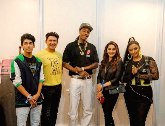 Actress Madhuri Dixit Nene had a great time attending Wiz Khalifa's gig in Mumbai. She also posed with the American rapper and said she had a great time grooving to his songs. Madhuri on Monday ... - Madhuri Dixit Nene
