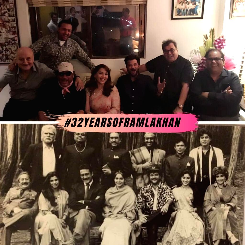 Actress Madhuri Dixit Nene on Wednesday took a trip down memory lane and celebrated the 32nd anniversary of her Bollywood hit film Ram Lakhan - Madhuri Dixit Nene