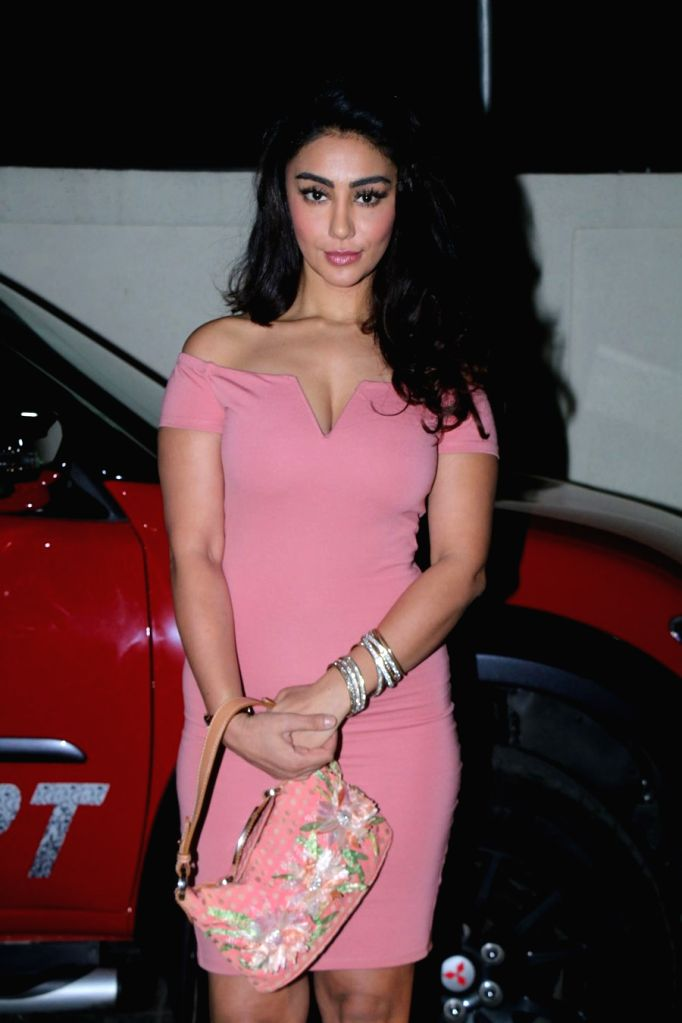 "Actress Mahek Chahal at the special screening of film ""Nirdosh"" in Mumbai on Jan 18, 2018. - Mahek Chahal"