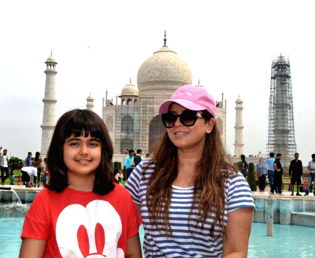 Actress Mahima Choudhry during her visit to the Taj Mahal in Agra on July 2, 2017. - Mahima Choudhry