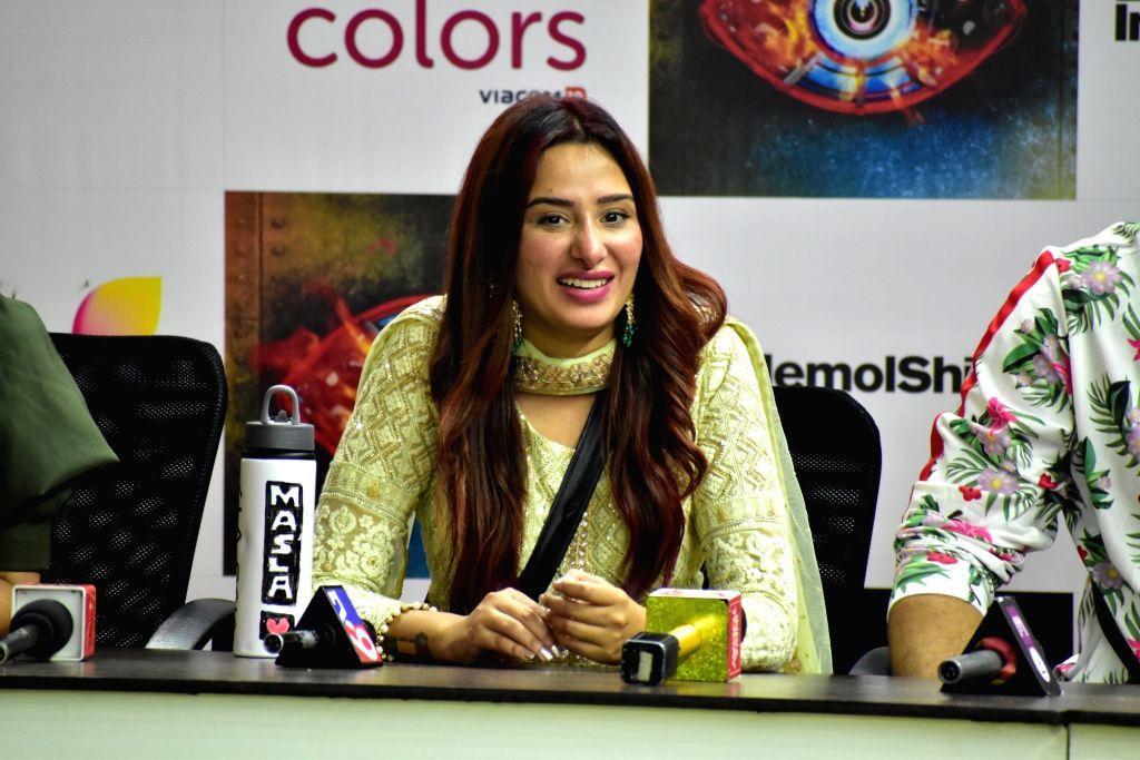 Actress Mahira Sharma at Bigg Boss 13 press conference, in Mumbai on Feb 5, 2020. - Mahira Sharma