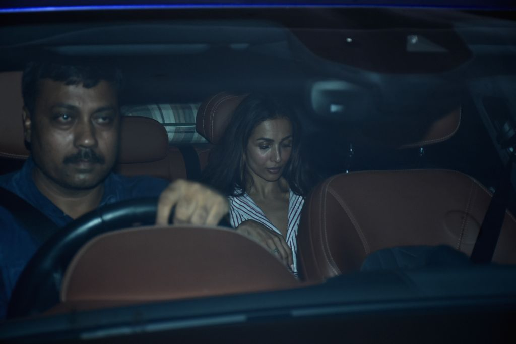 Actress Malaika Arora arrives at filmmaker Karan Johar's house party in Mumbai, on July 27, 2019. - Malaika Arora
