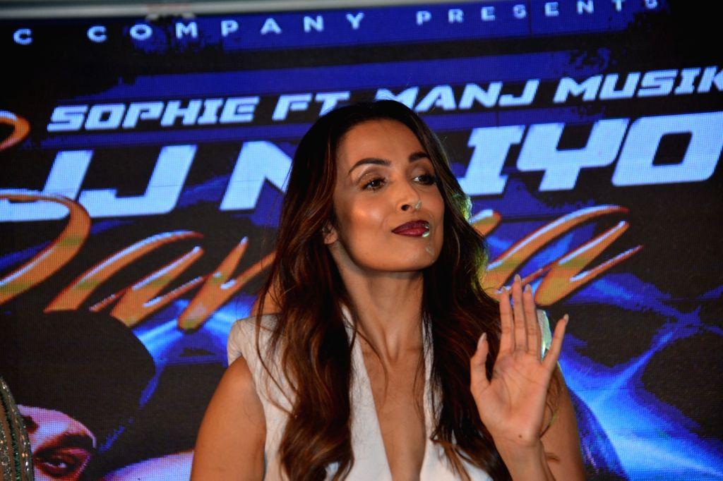 Actress Malaika Arora at singers Sophie Choudry and Manj Musik's song launch in Mumbai, on Feb 5, 2019. - Malaika Arora