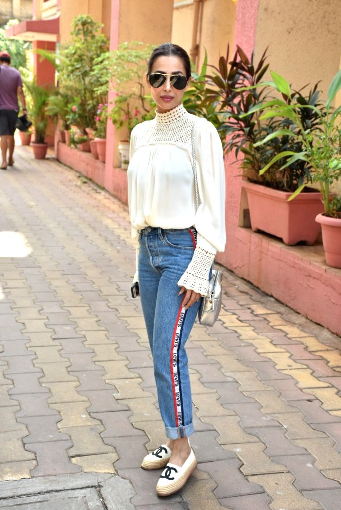 Actress Malaika Arora during a programme at her yoga studio in Mumbai, on March 9, 2019. - Malaika Arora