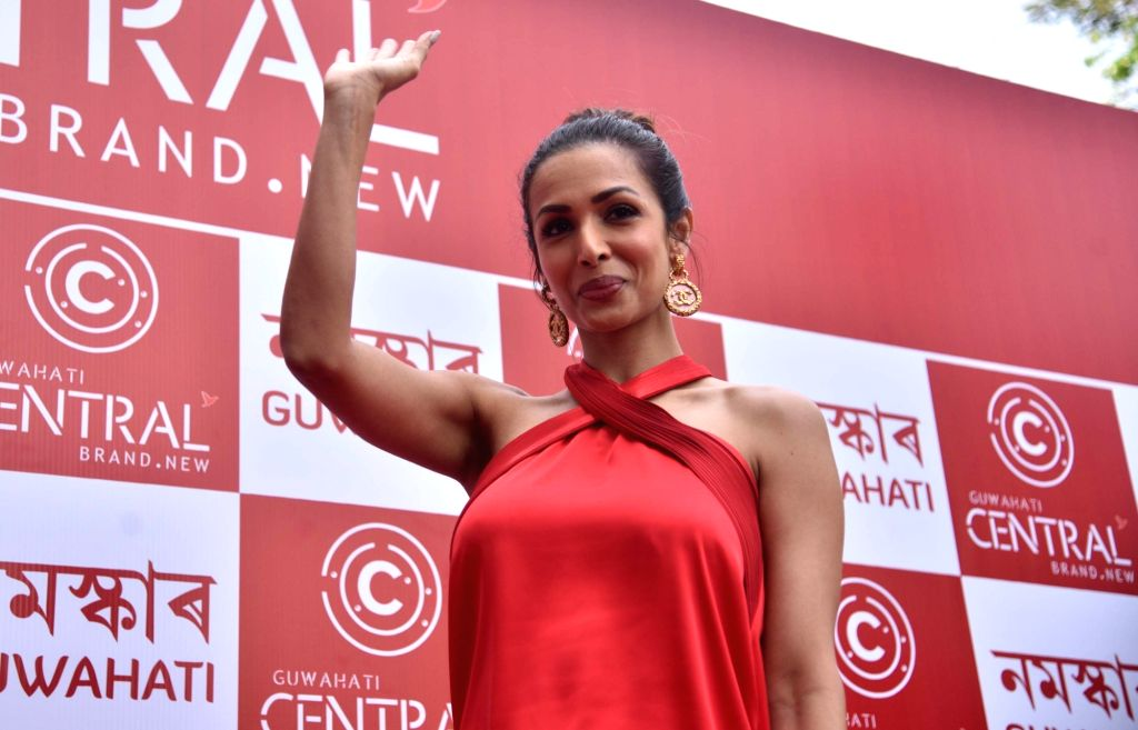 Actress Malaika Arora during the launch of a store, in Guwahati on April 7, 2018. - Malaika Arora