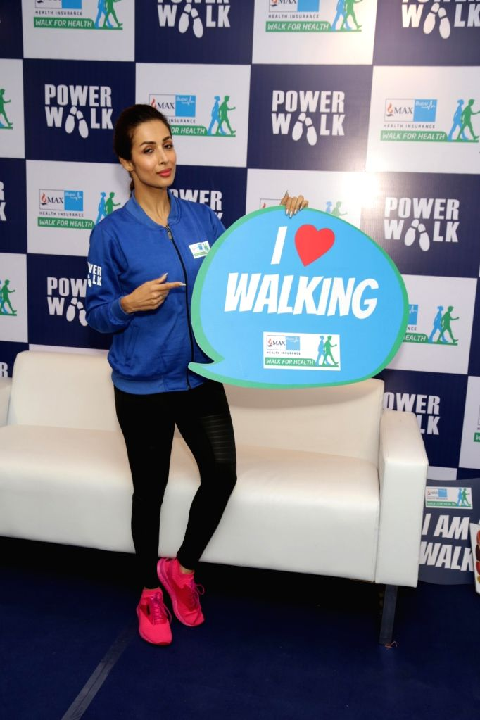 Actress Malaika Arora during Walk for Health in New Delhi on Feb 18, 2018. - Malaika Arora