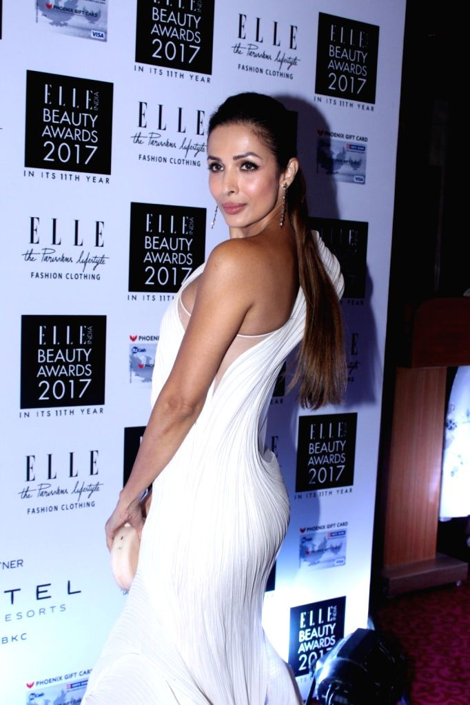 "Actress Malaika Arora Khan during the ""Elle India Beauty Awards 2017"" in Mumbai on Oct 4, 2017. - Malaika Arora Khan"