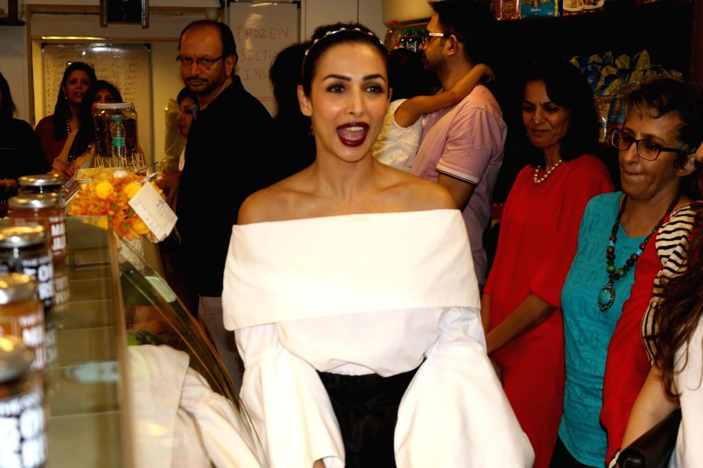 Actress Malaika Arora Khan during the opening of Patisserie A Saluti shop in Mumbai. - Malaika Arora Khan