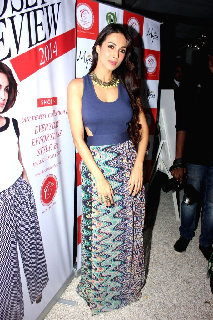 Actress Malaika Arora Khan during the preview collection of The Closet Label at Olive in Mumbai on December 20, 2013.