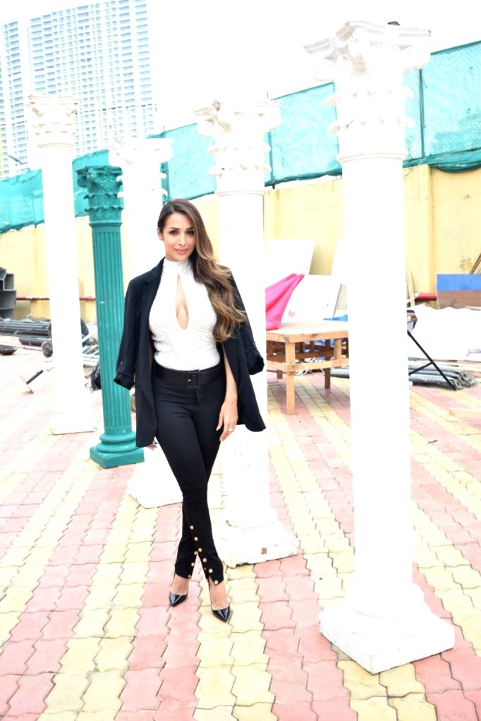 "Actress Malaika Arora Khan on the set of ""India's Next Top Model"" Season 3  in Mumbai on Oct 10, 2017. - Malaika Arora Khan"