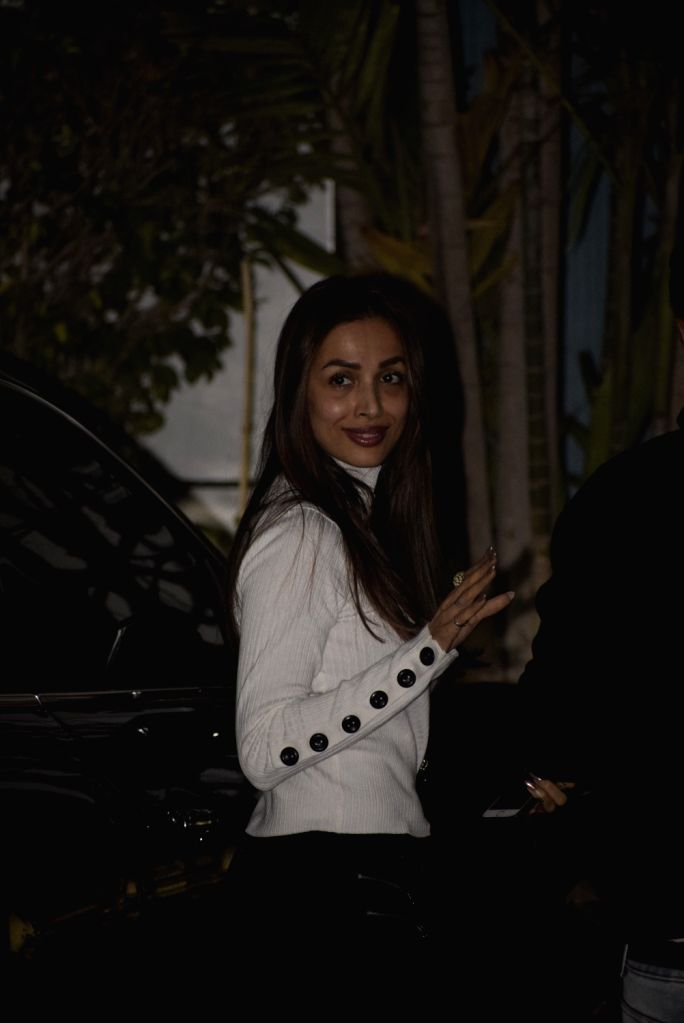 Actress Malaika Arora leaves for Switzerland to participate in the pre-wedding bash of Reliance Industries Chairman Mukesh Ambani's son Akash Ambani and diamantaire Russell Mehta's daughter ... - Malaika Arora, Mukesh Ambani, Akash Ambani and Shloka Mehta
