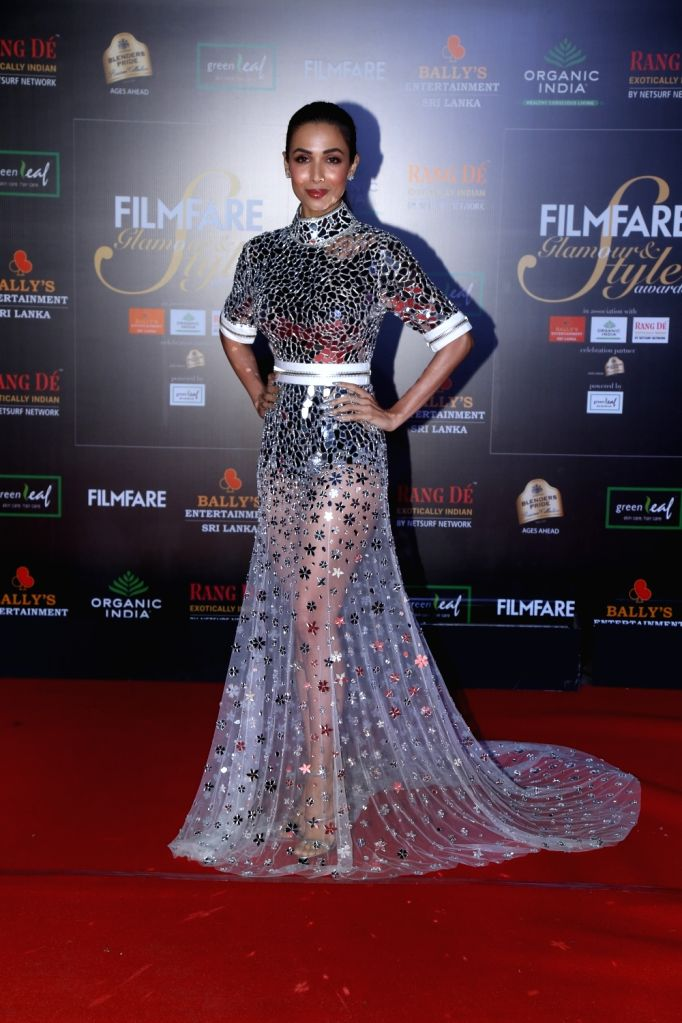 Actress Malaika Arora on the red carpet of Filmfare Glamour And Style Awards 2019 in Mumbai on Dec 3, 2019. - Malaika Arora