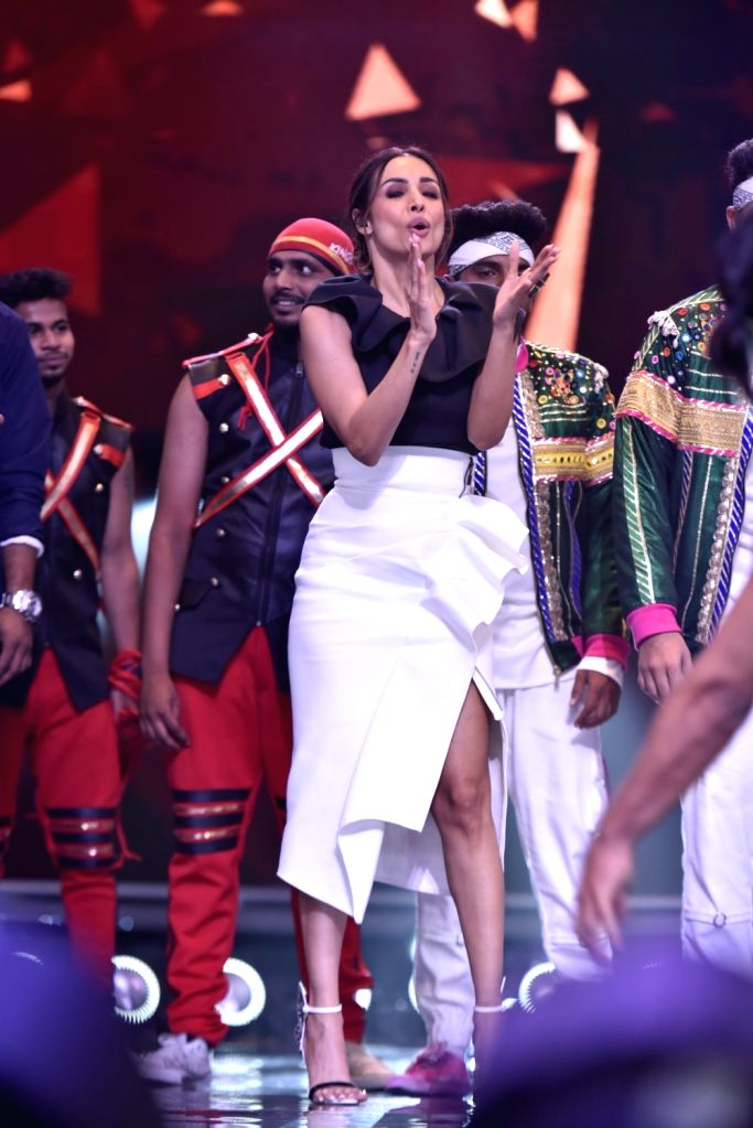 Actress Malaika Arora performs on the sets of Dance India Dance Season 7, in Mumbai on July 18, 2019. - Malaika Arora