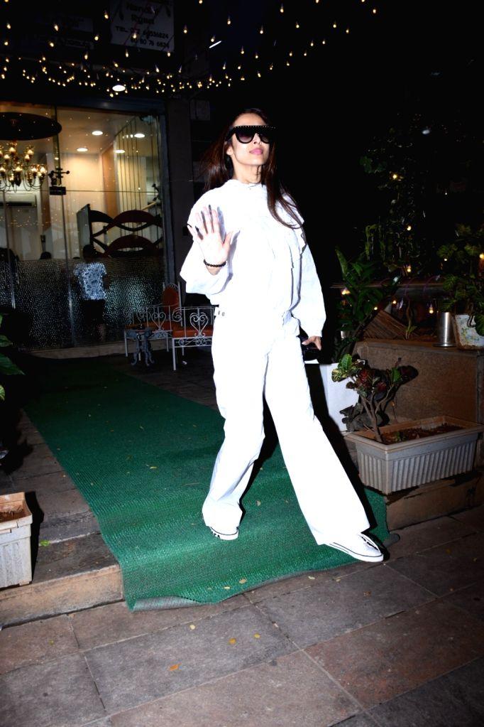 Actress Malaika Arora seen at a salon in Mumbai's Bandra on Oct 25, 2019. - Malaika Arora