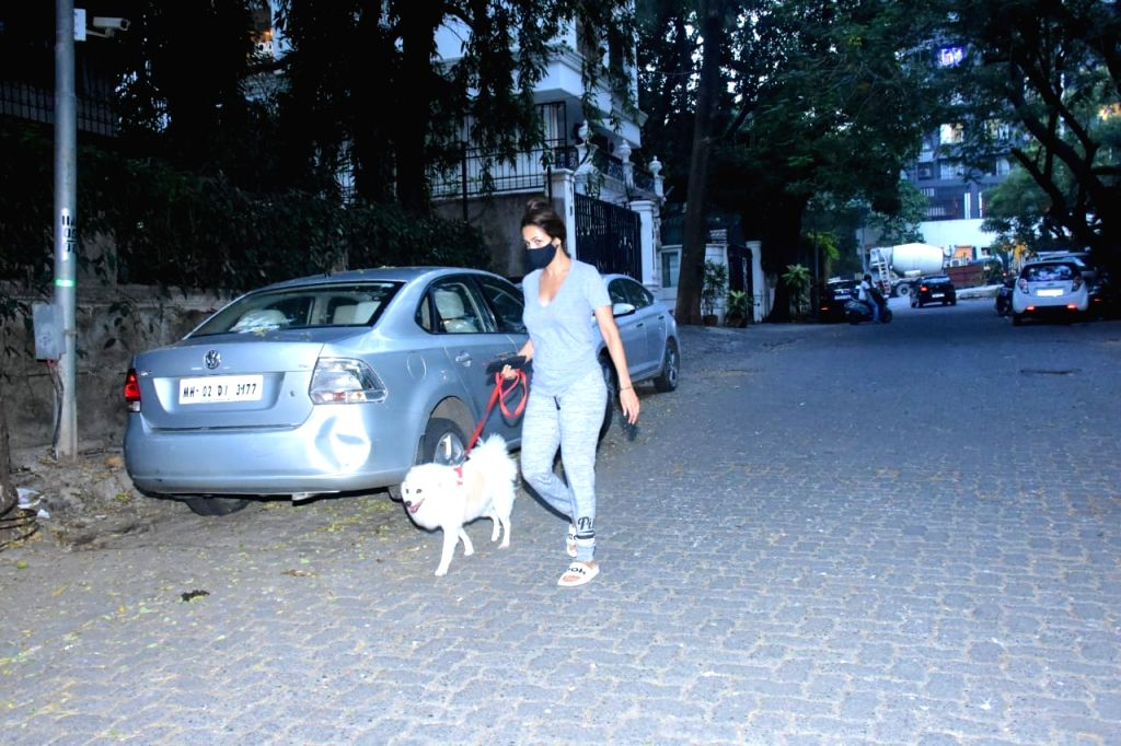 Actress Malaika Arora seen at Bandra in Mumbai on Nov 21, 2020. - Malaika Arora