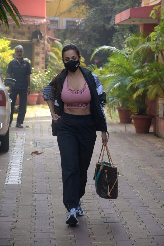 Actress Malaika Arora seen at Bandra in Mumbai on Dec 15, 2020. - Malaika Arora