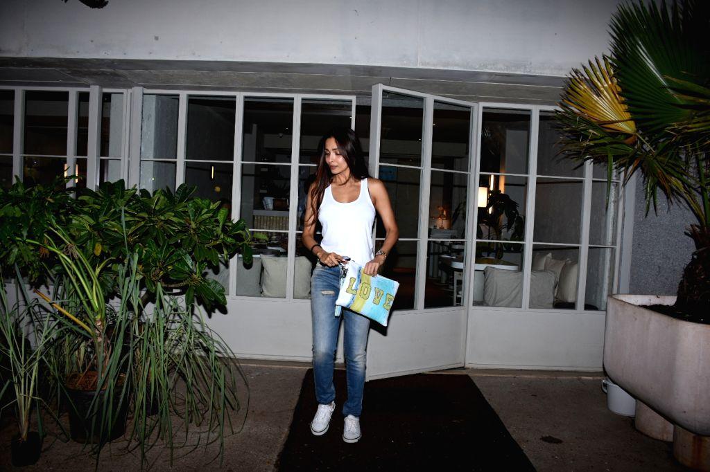 Actress Malaika Arora seen at Bandra in Mumbai, on July 17, 2019. - Malaika Arora