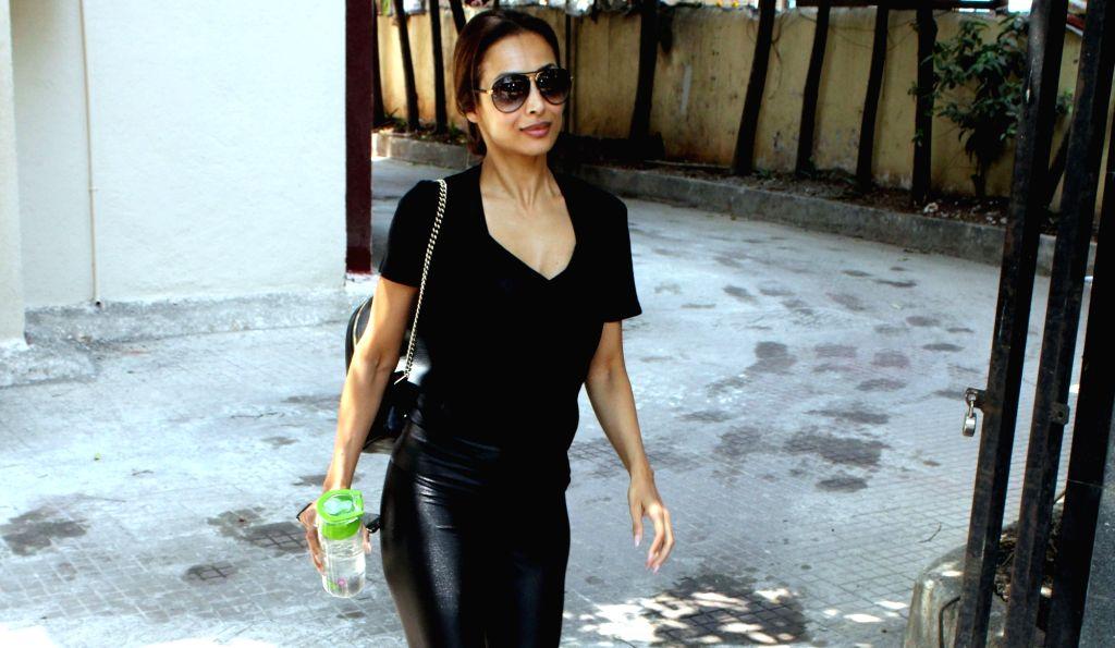 Actress Malaika Arora seen in Mumbai's Bandra, on April 10, 2019. - Malaika Arora
