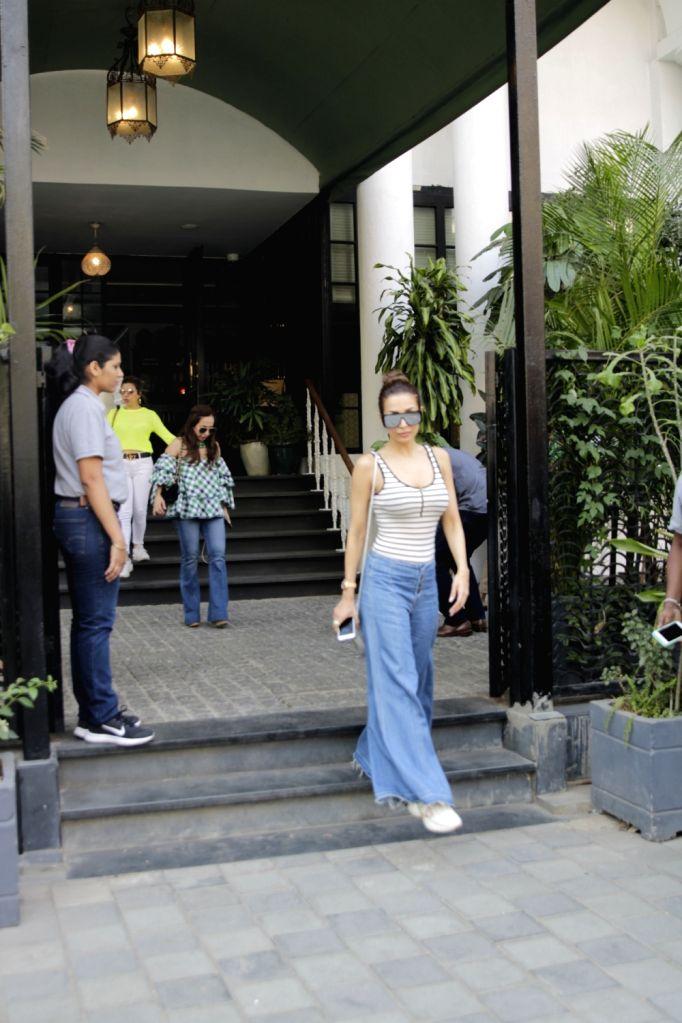 Actress Malaika Arora seen outside a club in Mumbai's Juhu on March 1, 2019. - Malaika Arora
