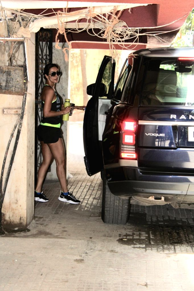 Actress Malaika Arora seen outside a gym in Mumbai's Bandra, on May 1, 2019. - Malaika Arora