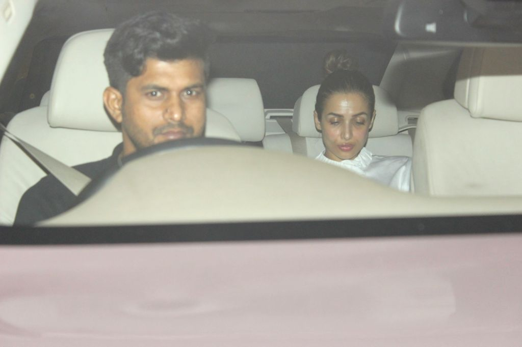 Actress Malaika Arora spotted at Karan Johar home in Mumbai on May 28, 2017. - Malaika Arora and Karan Johar