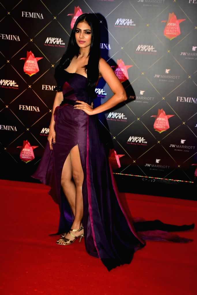 Actress Malavika Mohanan at the Femina Beauty Awards 2018 in Mumbai on Feb 15, 2018. - Malavika Mohanan