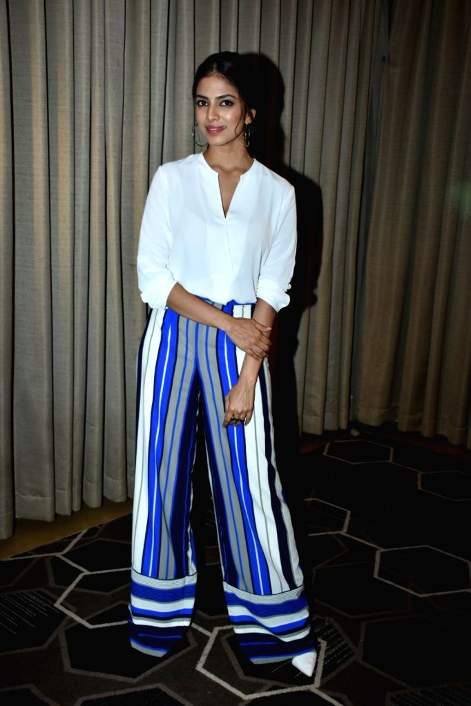 "Actress Malavika Mohanan at the promotion of her upcoming film ""Beyond the Clouds"" in Mumbai on April 3, 2018. - Malavika Mohanan"