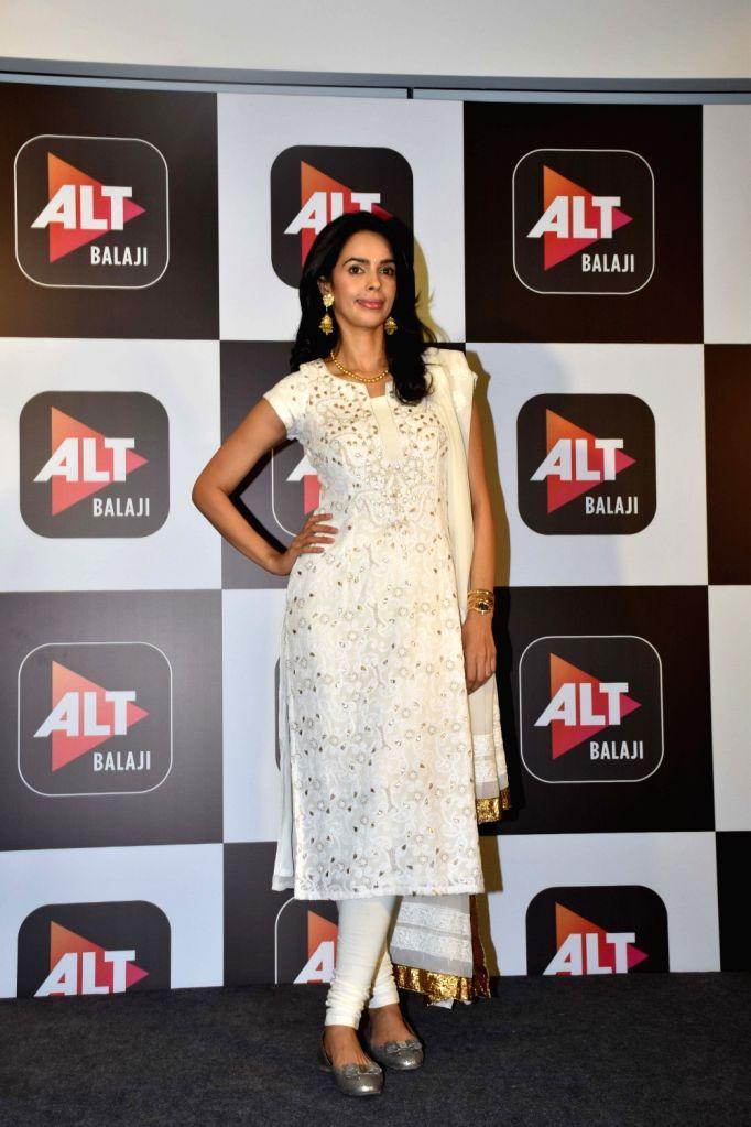"Actress Mallika Sherawat at the launch of her upcoming horror comedy web series ""Booo – Sabki Phategi"" in Mumbai, on Feb 4, 2019. - Mallika Sherawat"