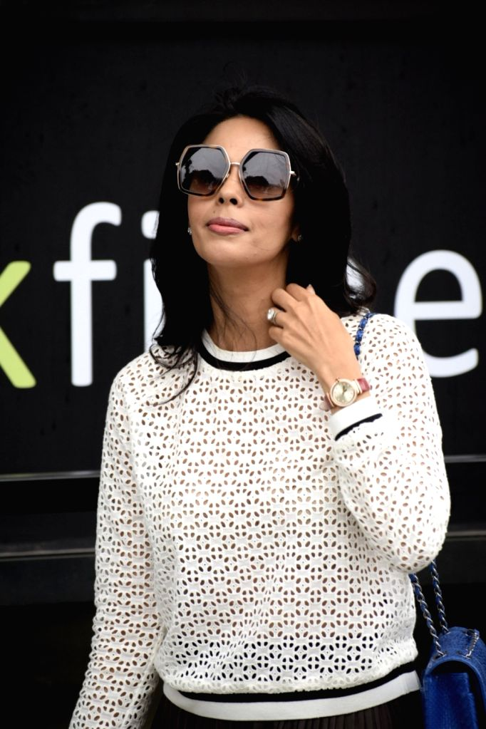 Actress Mallika Sherawat seen at a restaurant in Mumbai's Juhu on July 21, 2018. - Mallika Sherawat