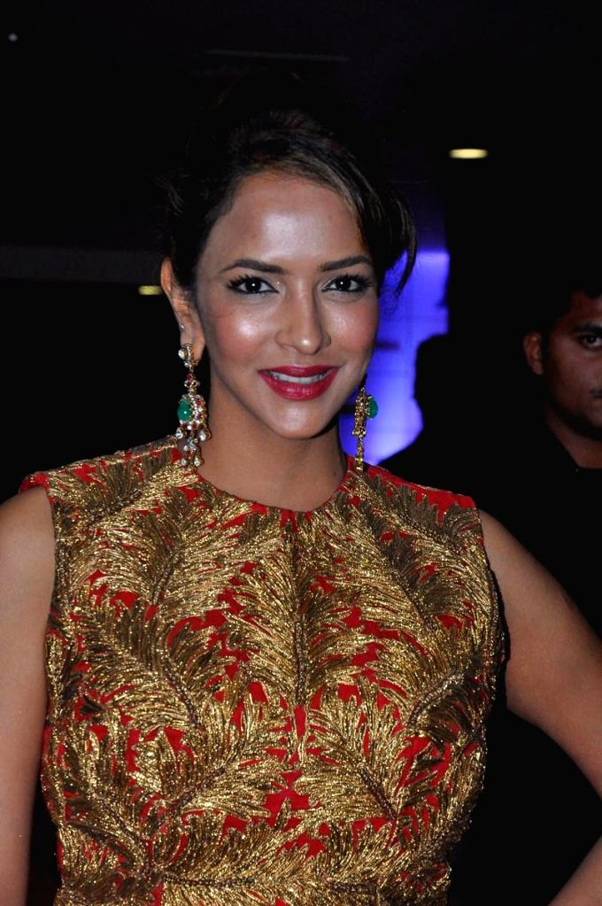 Actress Manchu Lakshmi during Vikrama Simha (Kochadaiyaan in Tamil) audio release function held at Imox of Hyderabad on Saturday night. - Manchu Lakshmi
