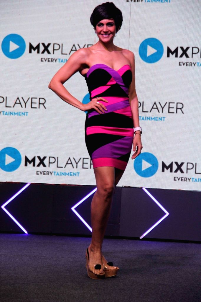 Actress Mandira Bedi at MX Player's five original series launch, in Mumbai on Feb 19, 2019. - Mandira Bedi