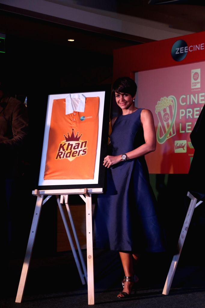 Actress Mandira Bedi at the launch of Zee Cinema Premier League in Mumbai on April 5, 2018. - Mandira Bedi
