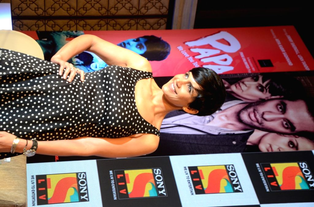 Actress Mandira Bedi during a press conference of short film 'The Gift' in Mumbai on June 22, 2017. - Mandira Bedi