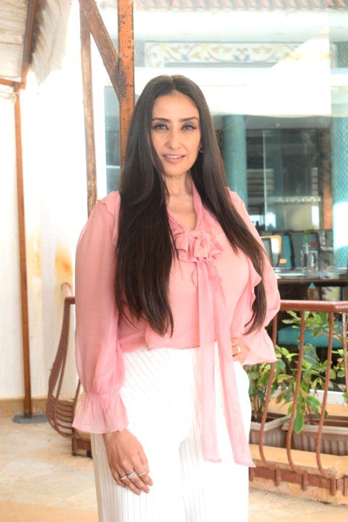 "Actress Manisha Koirala at the promotion of his upcoming film ""Prasthanam in Mumbai, on Aug 26, 2019. - Manisha Koirala"