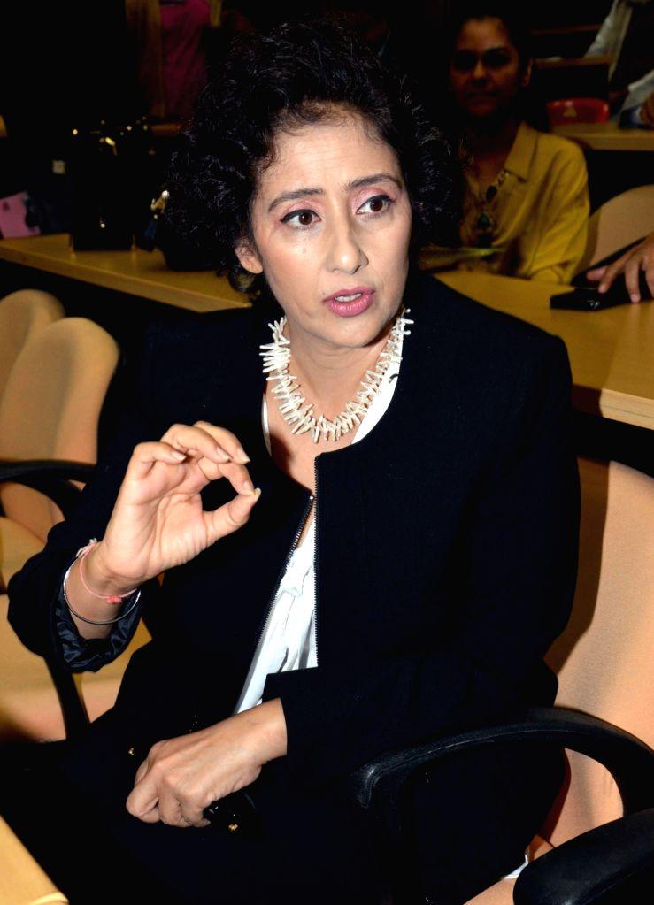 Actress Manisha Koirala during a programme in Patna, on Jan 15, 2016.