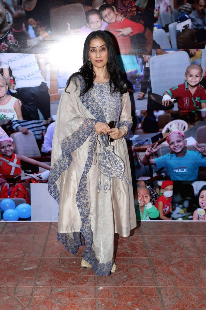 Actress Manisha Koirala during a programme with cancer patient childrens , in Mumbai on Dec 15, 2019. - Manisha Koirala